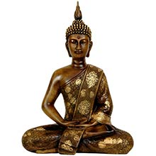 "11"" Thai Sitting Buddha Statue ::"