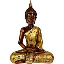 "16"" Thai Sitting Buddha Statue ::"