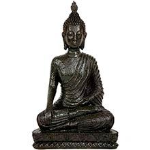 """10"""" Laotian Sitting Buddha Statue ::"""