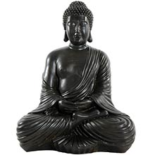 "17"" Large Japanese Sitting Buddha Statue"