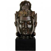"16"" Cambodian Buddha Head ::"