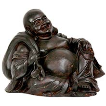 "5"" Sitting Happy Buddha Statue :: Buddhist Statues"