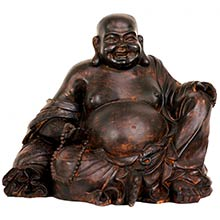 "8"" Sitting Laughing Buddha Statue :: Buddhist Statues"