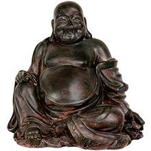 """11"""" Sitting Lucky Buddha Statue :: Buddha Decor"""