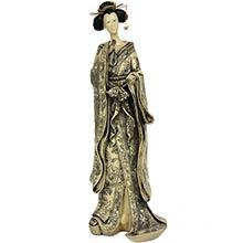 "17"" Geisha Figurine w/ Small Bow Kimono :: Japanese Geisha Dolls"