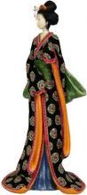 "18"" Geisha Figurine w/ Pale Green Sash :: Japanese Geisha Dolls"