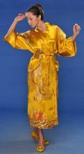 Gold Flowing Dragon Kimono Robe :: Kimono Robes