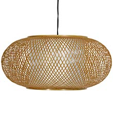 "8"" Honey Kata Japanese Ceiling Lantern :: Hanging Ceiling Lamps"