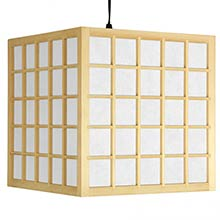 "12.5"" Japanese Window Pane Hanging Lantern :: Hanging Ceiling Lamps"