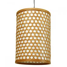 "12"" Desu Japanese Lattice Hanging Lantern :: Hanging Ceiling Lamps"