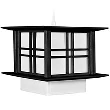 "8"" Akida Hanging Lamp - Black :: Hanging Ceiling Lamps"
