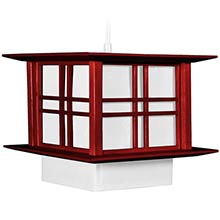 """8"""" Akida Hanging Lamp - Rosewood :: Hanging Ceiling Lamps"""
