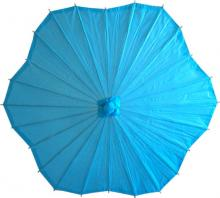 Scalloped Aqua Parasol :: Paper Umbrellas