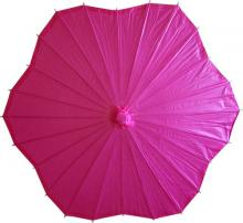 Scalloped Fuscia Parasol :: Paper Umbrellas