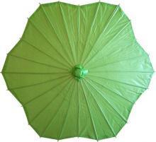 Melon Green Scalloped Parasol