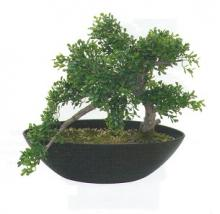 14 Inch Tea Leaf Bonsai :: Artificial Bonsai Trees
