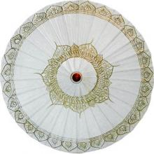 White Traditional Thai Umbrella :: Fashion Umbrellas