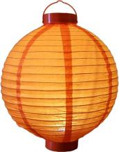 "12"" Glowing Orange Lantern ::"
