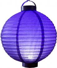 "12"" Glowing Purple Lantern"