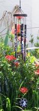 Black Yin Yang with Ba Gua Windchime :: Wind Chimes