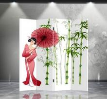 Double Sided Beauty Divider :: Folding Room Dividers