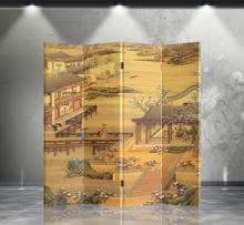 Double Sided Chinese Garden Divider :: Folding Room Dividers