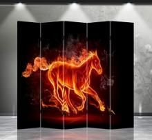 Double Sided Fire Horse Divider :: Folding Room Dividers