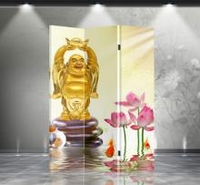 Double Sided Happy Buddha Divider :: Folding Room Dividers