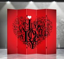 Double Sided Love Divider :: Folding Room Dividers