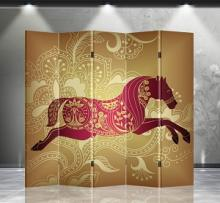 Double Sided Lucky Horse Divider :: Folding Room Dividers