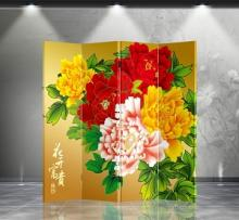 Double Sided Peony Divider :: Folding Room Dividers