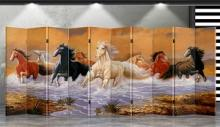 Double Sided Running Horses Divider :: Folding Room Dividers