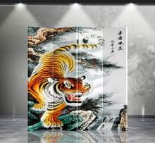 Double Sided Tiger Divider :: Folding Room Dividers