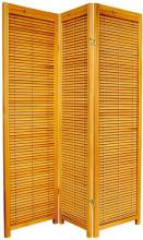 "Honey 59"" Tall Wooden Shutter Screen :: Wooden Shutter Screens"