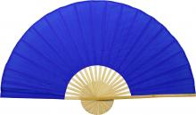 Solid Blue Unpainted Fan :: Oriental Wall Fans
