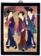 "25"" Three Geishas Wall Carving :: One of a Kind Specials"