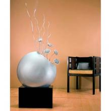 "24"" Giant Angled Circle Vase - Silver :: Bamboo Decor"