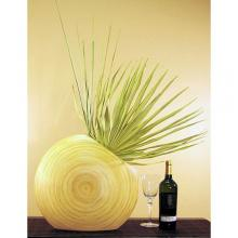"18"" Natural Angled Circle Vase :: Bamboo Decor"