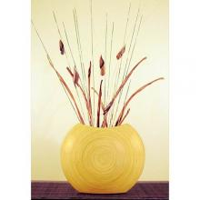 "14"" Natural Top-Opening Circle Vase :: Bamboo Decor"
