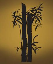 Bamboo Stalks Wall Decal :: Asian Art Wall Stickers