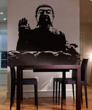 Chinese Buddha Wall Decal :: Asian Art Wall Stickers