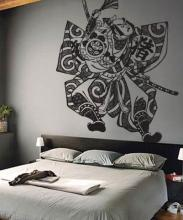 Samurai Fighter Wall Decal :: Asian Art Wall Stickers