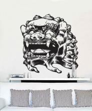 Chinese Dragon Statue Wall Decal :: Asian Art Wall Stickers