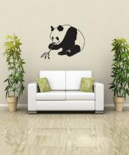 Asian Panda  Wall Decal :: Asian Art Wall Stickers