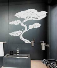 Tall Bonsai Tree Wall Decal :: Asian Art Wall Stickers