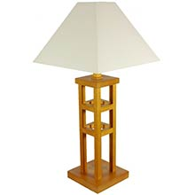 "27"" Mosko Table Lamp (Honey Finish) :: Japanese Lamps"