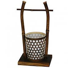 "16"" Rice Bucket Lantern :: Japanese Lamps"