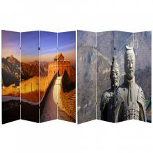 6 ft. Tall Double Sided Great Wall of China Room Divider :: Folding Room Dividers