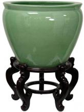 Green Celadon Porcelain Fish Bowl :: Chinese Fish Bowls