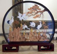 Dancing Cranes  :: Cork Sculpture